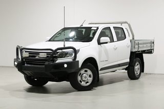 2016 Holden Colorado RG MY17 LS (4x4) White 6 Speed Manual Crew Cab Chassis.