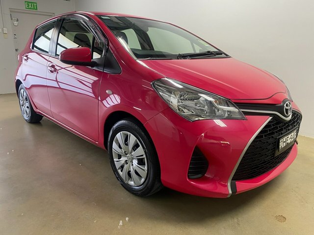Used Toyota Yaris NCP130R MY15 Ascent, 2016 Toyota Yaris NCP130R MY15 Ascent Pink 4 Speed Automatic Hatchback
