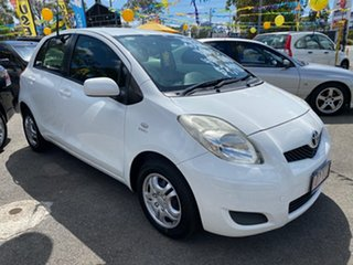2010 Toyota Yaris NCP90R 10 Upgrade YR White 4 Speed Automatic Hatchback.