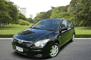 2010 Hyundai i30 FD MY10 SX Black 4 Speed Automatic Hatchback.