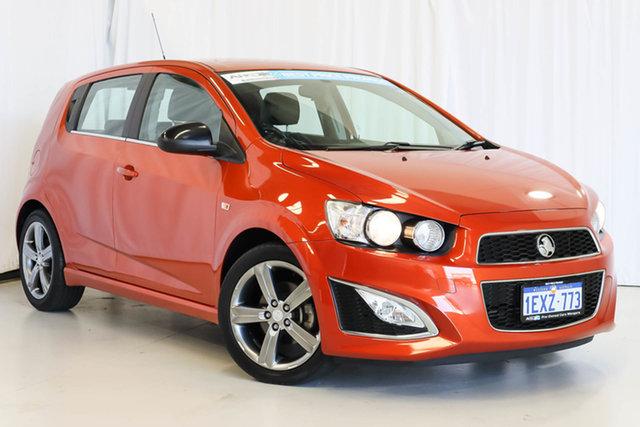 Used Holden Barina TM MY15 RS, 2015 Holden Barina TM MY15 RS Orange 6 Speed Manual Hatchback