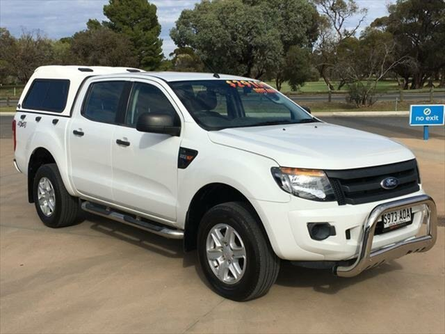 Used Ford Ranger PX XLT Double Cab Berri, 2012 Ford Ranger PX XLT Double Cab White 6 Speed Sports Automatic Utility