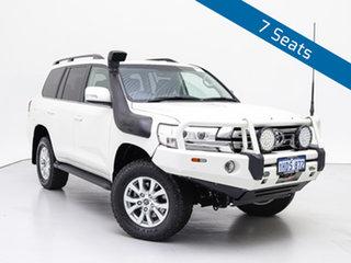 2019 Toyota Landcruiser VDJ200R LC200 VX (4x4) White 6 Speed Automatic Wagon.