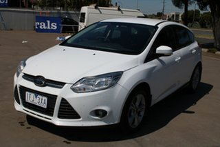 2014 Ford Focus LW MK2 MY14 Trend White 6 Speed Automatic Hatchback.