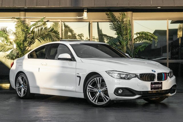 Used BMW 4 Series F32 420d Sport Line, 2014 BMW 4 Series F32 420d Sport Line White 8 Speed Sports Automatic Coupe