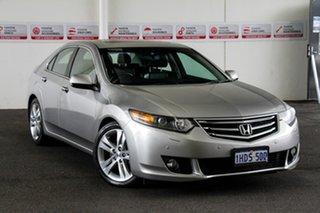 2010 Honda Accord 10 Euro Luxury Silver 5 Speed Automatic Sedan.
