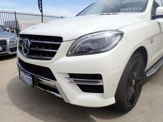 2012 Mercedes-Benz M-Class W166 ML500 7G-Tronic + White Crystal 7 Speed Sports Automatic Wagon.