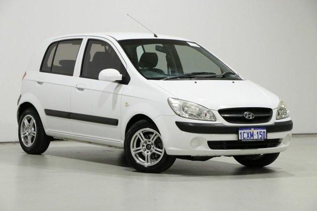 Used Hyundai Getz TB Upgrade SX, 2008 Hyundai Getz TB Upgrade SX White 4 Speed Automatic Hatchback