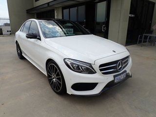 2017 Mercedes-Benz C200 205 MY17.5 White & Black 9 Speed Automatic G-Tronic Sedan.