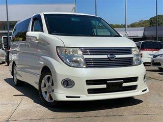 2009 Nissan Elgrand NE51 Highwaystar White Automatic Wagon.