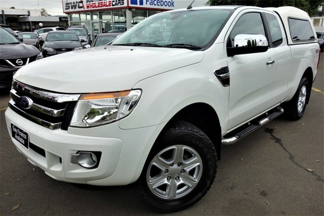 Used Ford Ranger PX XLT Super Cab Seaford, 2014 Ford Ranger PX XLT Super Cab White 6 Speed Sports Automatic Utility