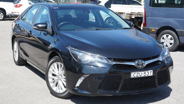 Used Toyota Camry ASV50R Atara SL Phillip, 2015 Toyota Camry ASV50R Atara SL Black 6 Speed Sports Automatic Sedan