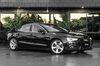 2013 Audi A5 8T MY13 Sportback Multitronic Black 8 Speed Constant Variable Hatchback.