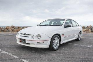 1998 Ford Falcon AU XR6 White 4 Speed Automatic Sedan.