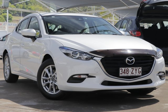Used Mazda 3 BN5476 Neo SKYACTIV-MT, 2017 Mazda 3 BN5476 Neo SKYACTIV-MT Snowflake White Pearl 6 Speed Manual Hatchback