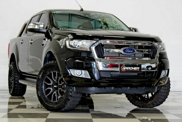 Used Ford Ranger PX MkII MY17 XLT 3.2 (4x4), 2016 Ford Ranger PX MkII MY17 XLT 3.2 (4x4) Black 6 Speed Automatic Double Cab Pick Up
