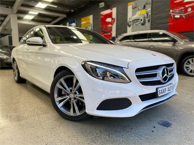 Used Mercedes-Benz C-Class W205 , 2016 Mercedes-Benz C-Class W205 C200 Polar White Sports Automatic Sedan