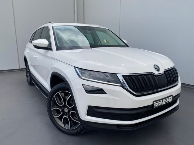 Used Skoda Kodiaq NS MY19 132TSI DSG Liverpool, 2019 Skoda Kodiaq NS MY19 132TSI DSG White 7 Speed Sports Automatic Dual Clutch Wagon