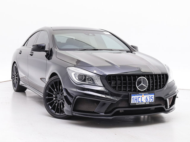 Used Mercedes-Benz CLA45 117 MY15 AMG, 2015 Mercedes-Benz CLA45 117 MY15 AMG Black 7 Speed Automatic Coupe