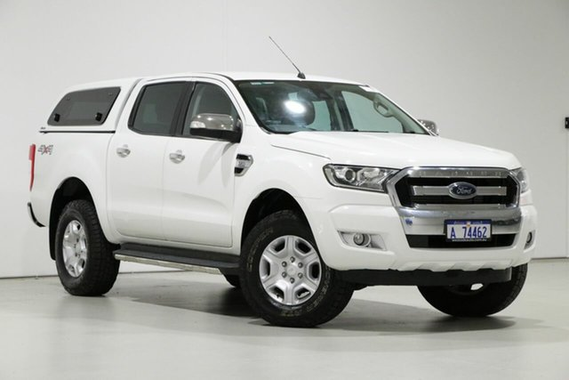 Used Ford Ranger PX MkII XLT 3.2 (4x4), 2016 Ford Ranger PX MkII XLT 3.2 (4x4) White 6 Speed Manual Double Cab Pick Up