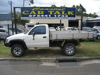 2000 Toyota Hilux RZN169R (4x4) White 5 Speed Manual 4x4 Cab Chassis.