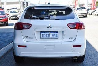 2011 Mitsubishi Lancer CJ MY11 VR-X Sportback White 6 Speed Constant Variable Hatchback