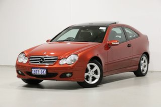 2004 Mercedes-Benz C180 CL203 Kompressor Red 5 Speed Auto Tipshift Coupe.