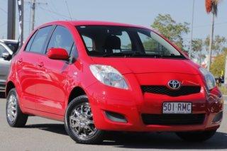 2011 Toyota Yaris NCP90R MY11 YR Cherry 5 Speed Manual Hatchback.