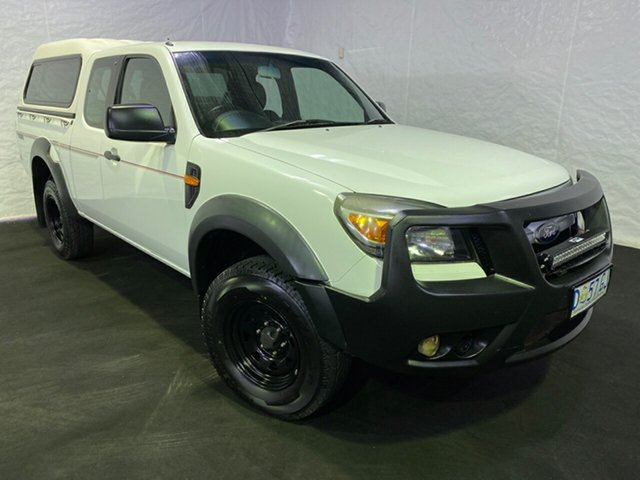 Used Ford Ranger PK XL Crew Cab 4x2 Hi-Rider, 2010 Ford Ranger PK XL Crew Cab 4x2 Hi-Rider White 5 Speed Manual Double Cab Pick Up