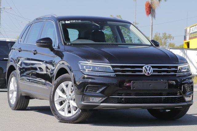 Used Volkswagen Tiguan 5N MY18 140TDI DSG 4MOTION Highline Rocklea, 2017 Volkswagen Tiguan 5N MY18 140TDI DSG 4MOTION Highline Deep Black 7 Speed