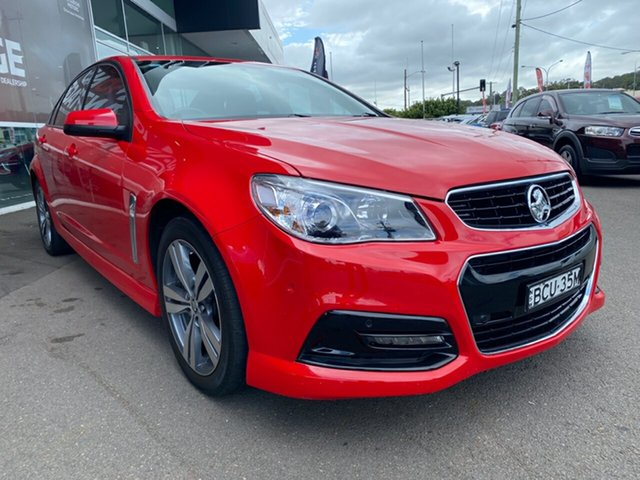 Used Holden Commodore VF MY14 SV6, 2013 Holden Commodore VF MY14 SV6 Red 6 Speed Manual Sedan