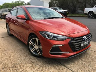 2016 Hyundai Elantra AD SR Turbo Orange 6 Speed Manual Sedan.