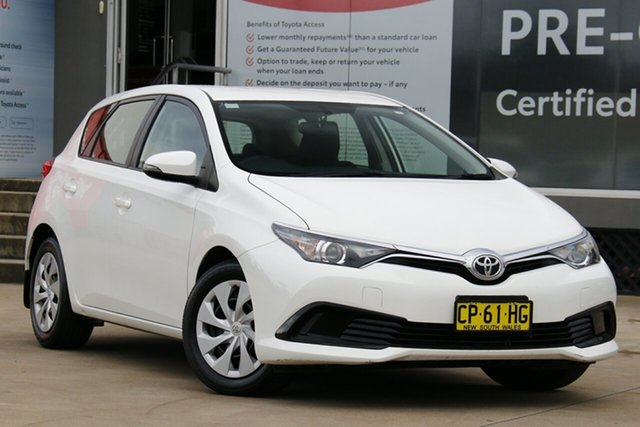 Used Toyota Corolla ZRE182R MY17 Ascent Guildford, 2018 Toyota Corolla ZRE182R MY17 Ascent Glacier White 7 Speed CVT Auto Sequential Hatchback
