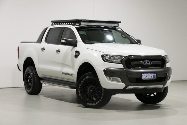 Used Ford Ranger PX MkII Wildtrak 3.2 (4x4), 2016 Ford Ranger PX MkII Wildtrak 3.2 (4x4) White 6 Speed Manual Dual Cab Pick-up