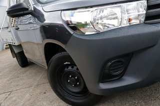 2018 Toyota Hilux TGN121R Workmate 4x2 Graphite 6 Speed Automatic Cab Chassis.