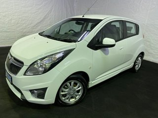 2015 Holden Barina Spark MJ MY15 CD Summit White 5 Speed Manual Hatchback