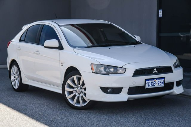Used Mitsubishi Lancer CJ MY11 VR-X Sportback, 2011 Mitsubishi Lancer CJ MY11 VR-X Sportback White 6 Speed Constant Variable Hatchback