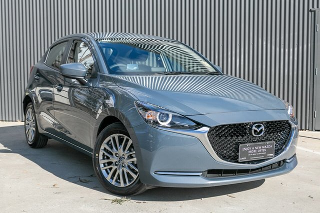 Demo Mazda 2 DJ2HAA G15 SKYACTIV-Drive Evolve, 2020 Mazda 2 DJ2HAA G15 SKYACTIV-Drive Evolve Polymetal Grey 6 Speed Sports Automatic Hatchback