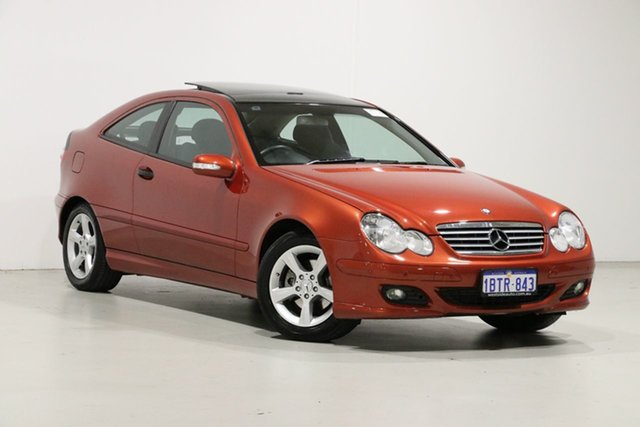 Used Mercedes-Benz C180 CL203 Kompressor, 2004 Mercedes-Benz C180 CL203 Kompressor Red 5 Speed Auto Tipshift Coupe