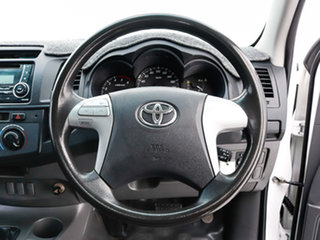2013 Toyota Hilux KUN26R MY12 SR (4x4) White 4 Speed Automatic Cab Chassis