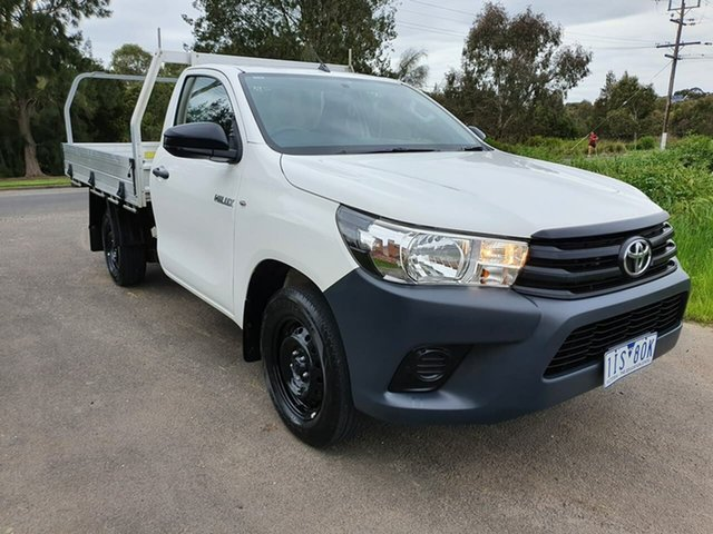 Used Toyota Hilux TGN121R Workmate, 2016 Toyota Hilux TGN121R Workmate White 6 Speed Sports Automatic Cab Chassis
