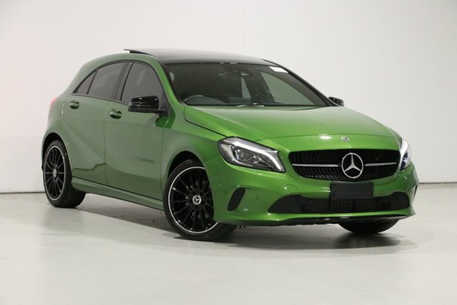 Used Mercedes-Benz A180 176 MY18 , 2018 Mercedes-Benz A180 176 MY18 Green 7 Speed Automatic Hatchback