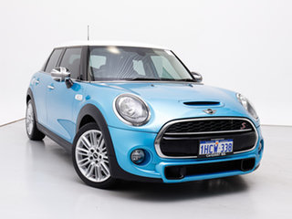 2015 Mini Cooper F55 S Electric Blue 6 Speed Automatic Hatchback.