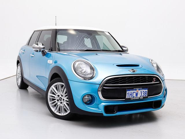 Used Mini Cooper F55 S, 2015 Mini Cooper F55 S Electric Blue 6 Speed Automatic Hatchback