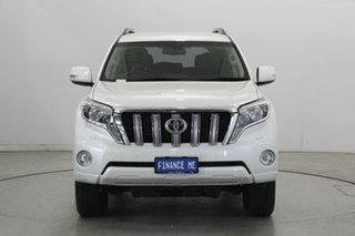 2013 Toyota Landcruiser Prado KDJ150R MY14 VX White 5 Speed Sports Automatic Wagon.
