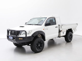 2013 Toyota Hilux KUN26R MY12 SR (4x4) White 4 Speed Automatic Cab Chassis.