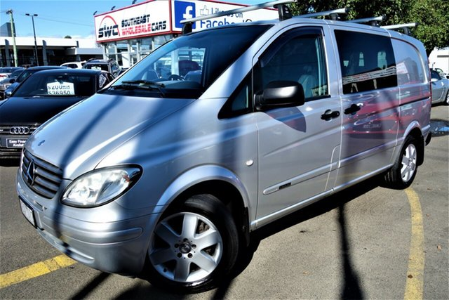 Used Mercedes-Benz Vito 639 MY10 115CDI Low Roof Comp, 2010 Mercedes-Benz Vito 639 MY10 115CDI Low Roof Comp Silver 5 Speed Automatic Van
