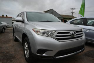 2013 Toyota Kluger GSU40R MY13 Upgrade KX-R (FWD) 5 Seat Silver 5 Speed Automatic Wagon.
