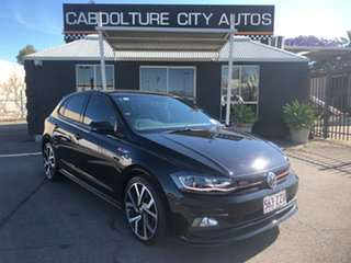 2018 Volkswagen Polo AW MY19 GTi Black 6 Speed Auto Direct Shift Hatchback.