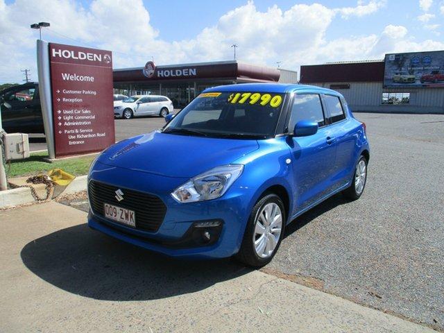 Used Suzuki Swift AZ GL Navigator North Rockhampton, 2018 Suzuki Swift AZ GL Navigator Speedy Blue 1 Speed Constant Variable Hatchback